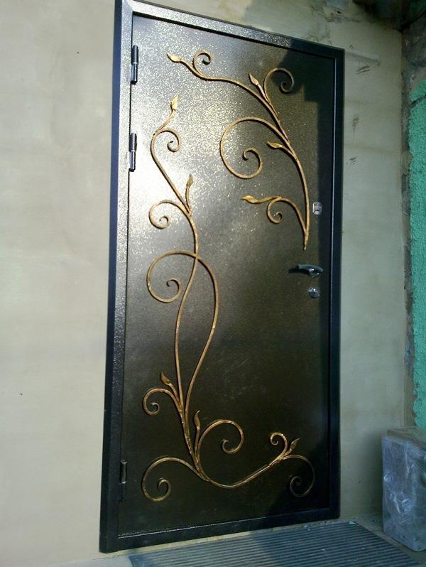 Как сделать двери из железа 163